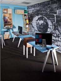 modular desks home office cool modular home office idea with rectangular brown and blue desk blue white home office