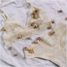 Комплект женского <b>кружевного</b> белья цвета шампань в магазине ...