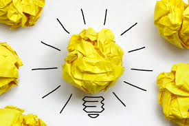 Crumpled Yellow Paper Light Bulb