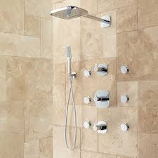 thermostatic brand bathroom: arin thermostatic shower system with hand shower and