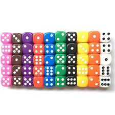 <b>10PCS</b> 6 Sided Dice Set 10 <b>Different Colors</b> 16mm Acrylic Dice For ...
