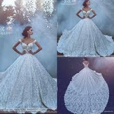 <b>2019 Luxury Princess</b> Lace Ball Gowns Wedding Dresses Sexy Off ...