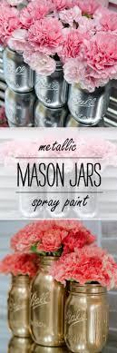 jar crafts home easy diy: cute diy mason jar ideas metallic mason jars fun crafts creative room decor