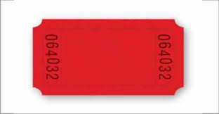 Raffle Tickets (YOUR LOGO IMPRINT ON FRONT) 1 front imprint area of .50h x 1.30w (back imprint available for additional cost run charge)