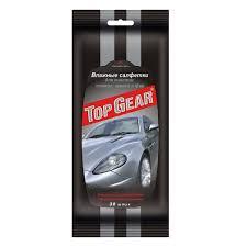 <b>Салфетки влажные</b> для стекол, зеркал, фар <b>Top Gear</b> 30 штук ...