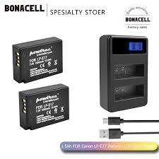 Bonacell 1500mAh <b>LPE17 LP E17 LP E17</b> Battery+LCD Dual ...