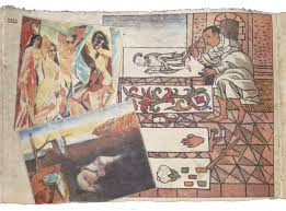 visual culture of the nacirema chagoya s printed codices art in fig 1d enrique chagoya detail of tales from the conquest codex