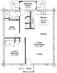 One bedroom house plans  One bedroom house and One bedroom on    Simple One Bedroom House Plans   Home Plans HOMEPW   Square Feet  Bedroom