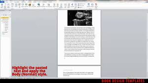 interior book design template demo for ms word interior book design template demo for ms word