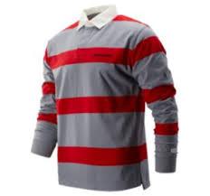 Men's Stripe <b>NB Athletics</b> Stadium Rugby LS