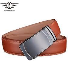 <b>Plyesxale</b> Man <b>Belt Leather</b> Genuine Brown Waist <b>Belt</b> Automatic ...