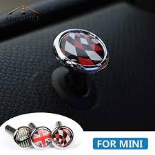 <b>2pcs</b> Carbon Fiber Union Jack Car <b>Door Lock Pin</b> Cover Interior ...