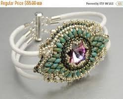 Maracesh, Bead Embroidery, Bracelet , Statement cuff, <b>Seed bead</b> ...