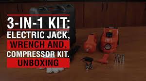 <b>3</b>-in-<b>1</b> KIT: <b>Electric Jack</b>, Wrench, and Compressor Kit - <b>Automotive</b> ...