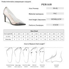 <b>Perixire Women Pumps</b> 2018 <b>Transparent</b> Super High Heels Sexy ...
