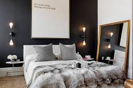 black and white bedroom with quote in background and romantic night lamp black white bedroom awesome