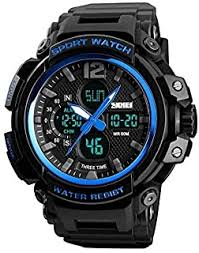 Buy <b>Skmei</b> Analog-Digital Military S-Shock Royal Blue Casing ...