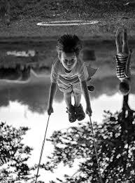 by ellis aveta awesome black white photograph children playing swing set awesome black white