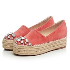 <b>2016 Spring</b> Woman Espadrilles <b>Genuine Leather</b> Platform Shoes ...