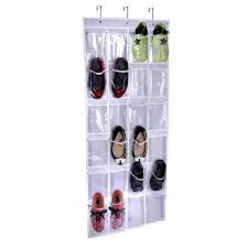 1PCS Household 3 Clasp <b>24 Grid</b> Shoes <b>Storage Bag</b> PVC ...
