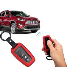 car key case protection cover shell keychain ring accessories remote 3 button 2 for toyota chr c hr 2018 2019