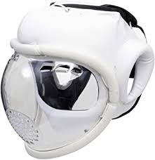 Playwell <b>Kudo</b> Full Face Weapons Full Contact Head Guard White ...
