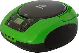 Аудиомагнитола <b>Hyundai H</b>-<b>PCD360</b>, черный, зеленый — купить ...