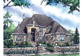 Eplans Chateau House Plan   Two Story Portico Commands Attention    Front