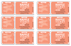 Raffle Ticket Templates | Make Your Own Raffle Tickets 3rd Free Raffle Ticket Templates for Word :