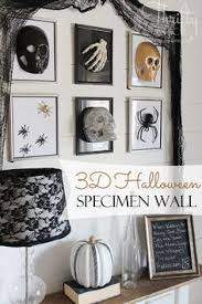 halloween gallery wall decor hallowen walljpg halloween specimen gallery wall using dollar store frames and finds great last minute halloween decorating idea love the lamp even for everyday
