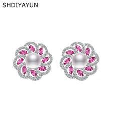 <b>SHDIYAYUN</b> 2019 Fine <b>Pearl</b> Earrings <b>Pearl Jewelry</b> Zircon Earring ...