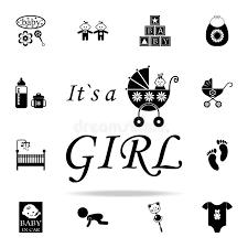 <b>Надпись</b> логотипа <b>значок</b> девушки <b>Комплект значков</b> младенца ...
