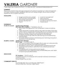 retail assistant manager resume examples retail store assistant    assistant manager resume examples retail store assistant manager resume valera gardner comunicate service picture of assistant
