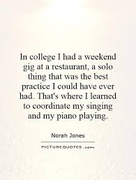 In college I had a weekend gig at a restaurant, a solo thing... via Relatably.com