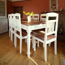 Shabby Chic Dining Room Furniture For Good Shabby Chic Dining Table Chairs Sharp Leather Dining Room