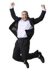 guest blog from creative resource job interview tips initio portrait of a businessman smiling and jumping in mid air