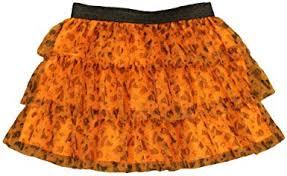 Infant & Toddler Girls Rufled Orange <b>Witch</b> & Bat <b>Halloween</b> Tulle ...
