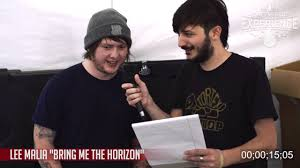 sorta 30 second interview lee a from bring me the sorta 30 second interview lee a from bring me the horizon at rockville 2016