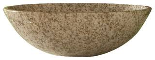 "Gold Hill Granite Round Vessel Sink, 14"" Diameter - Contemporary ..."
