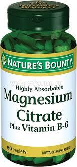 Нэйчес Баунти (<b>Natures Bounty</b>) <b>Цитрат Магния</b> с вит.В6 таб. 1 ...
