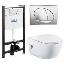 Подвесной <b>унитаз с инсталляцией Roca</b> Meridian Compact ...