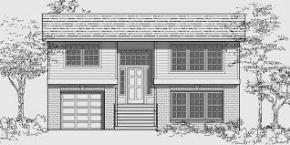 Split Level House Plans  Small House Plans House front color elevation view for Split level house plans  small house plans