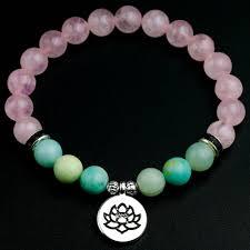 <b>8</b> мм <b>розовый кварц</b> с амазонитом ручной работы натуральный ...