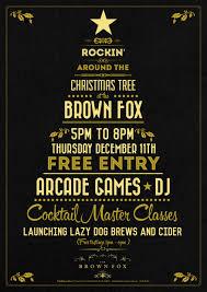 the brown fox christmas christmas party poster 03