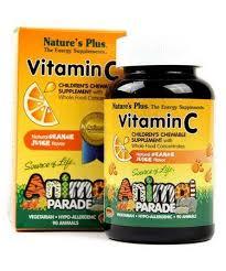 Nature's Plus <b>Source of Life Animal</b> Parade Vitamin C Children's ...
