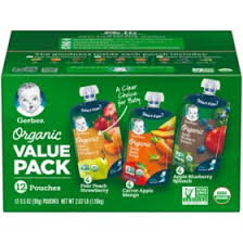 Gerber <b>Organic</b> 2nd Foods Variety Pack (3.5 oz., 12 ct.) - Sam's Club