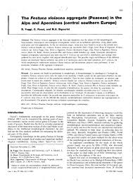 (PDF) The Festuca violacea aggregate in the Alps and Apennines ...