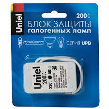 <b>Блок защиты Uniel</b> галогенных ламп 200W, UPB-200W-SL купить ...