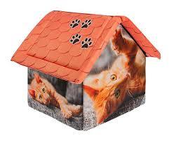 <b>Дом</b> для животных <b>PerseiLine Дизайн Рыжий</b> кот 33 х 33 х 40 см ...