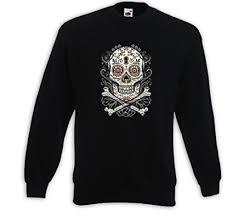 Pullover & Strick Mexican Pullover <b>Floral Skull Vintage</b> Rockabilly ...